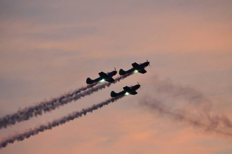 an Illuminated Twi-night Airshow was held Friday Evening.