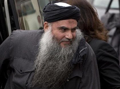 Radical Muslim cleric Abu Qatada arrives back at his home after being released on bail, in London in this November 13, 2012 file photograph.