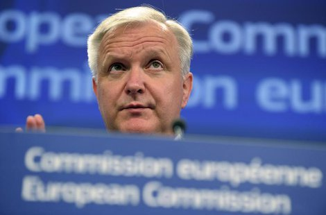 European Economic and Monetary Affairs Commissioner Olli Rehn attends a news conference at the European Commision in Brussels June 5, 2013.