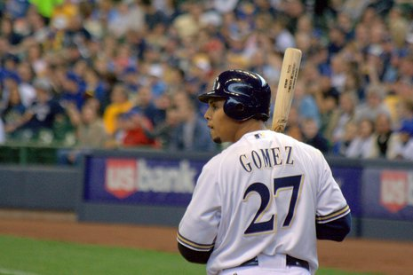 Milwaukee Brewers outfielder Carlos Gomez (courtesy of Flickr).