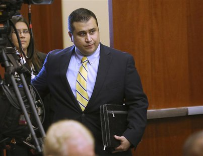 George Zimmerman arrives for his trial in Seminole circuit court in Sanford, Florida, July 8, 2013. REUTERS/Joe Burbank/Pool