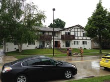The apartment building that had the attic fire July 8 in Sheboygan