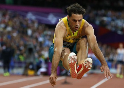 Australia's Mitchell Watt competes in the men's long jump final at the London 2012 Olympic Games at the Olympic Stadium August 4, 2012. REUT
