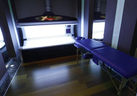 A view of a tanning bed at a spa facility at Mistral Hotel, which the Spanish soccer team has chosen as their hub for the Euro 2012 soccer c