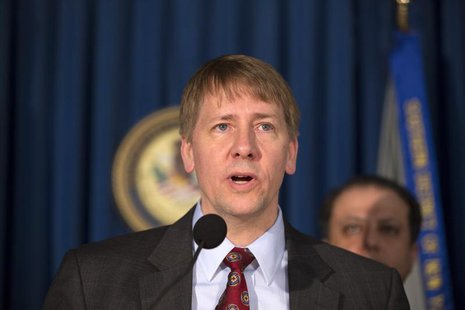 Richard Cordray, director of the Consumer Financial Protection Bureau, describes charges being brought against the debt settlement company M