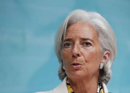 International Monetary Fund Managing Director Christine Lagarde speaks during a news conference at IMF headquarters in Washington June 14, 2