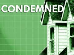 condemned home