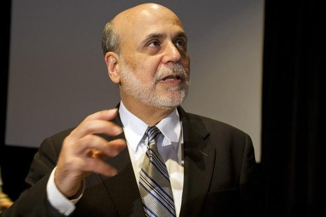 Federal Reserve Chairman Ben Bernanke speaks at a meeting of the National Bureau of Economic Research in Cambridge, Massachusetts July 10, 2