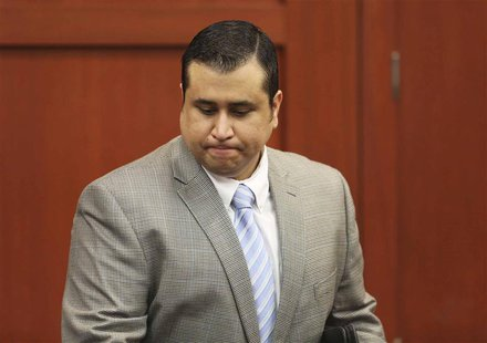 George Zimmerman arrives for his trial in Seminole circuit court in Sanford, Florida July 11, 2013. REUTERS/Gary W. Green/Pool