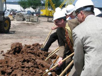Groundbreaking at Mercury Marine in Fond du Lac  (Photo: Wisconsin Radio Network)