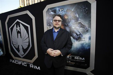 "Director Guillermo del Toro poses at the premiere of ""Pacific Rim"" at Dolby theatre in Hollywood, California July 9, 2013. REUTERS/Mario Anz"