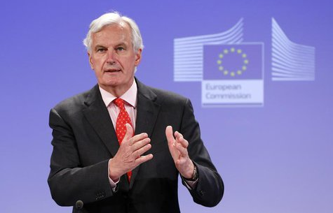 European Union Commissioner for Internal Market and Services Michel Barnier addresses a news conference in Brussels July 10, 2013. REUTERS/F