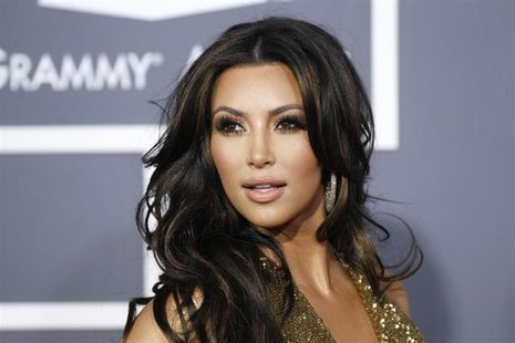 Television personality Kim Kardashian arrives at the 53rd annual Grammy Awards in Los Angeles, California February 13, 2011 file photo. REUT