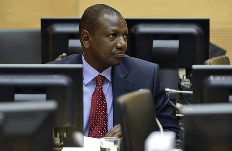 William Ruto sits in the courtroom of the International Criminal Court (ICC) in The Hague May 14, 2013. REUTERS/Lex van Lieshout/Pool