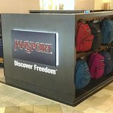 To match BACKTOSCHOOLS/POPUPS A kiosk located in the lower level in the Mall of Georgia selling JanSport Apparel for back-to-school purchase