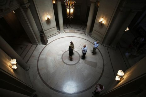 A same-sex couple weds at City Hall in San Francisco, June 29, 2013. REUTERS/Stephen Lam