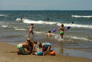 With the waters in Lake Michigan finally warming up, it would be a great week to go to the beach.