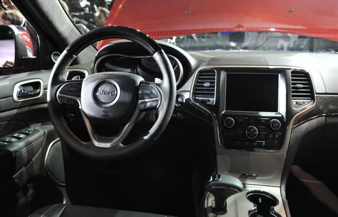 View of the interior of the 2014 Jeep Grand Cherokee at the North American International Auto Show in Detroit, Michigan January 14, 2013. RE