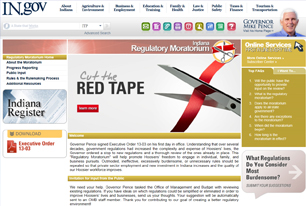 Indiana Cut The Red Tape Web Page