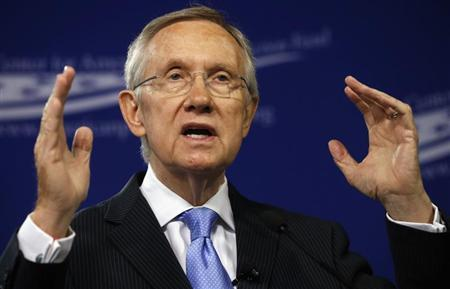 Senate Majority Leader Harry Reid (D-NV) speaks about ''Ending Senate Gridlock'' at the Center for American Progress Action Fund in Washington July 15, 2013. Credit: Reuters/Kevin Lamarque