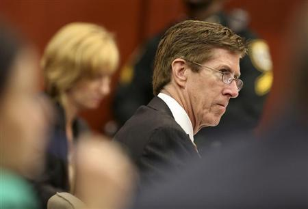 Defense attorney Mark O'Mara listens to testimony during the second-degree murder trial of his client George Zimmerman for the 2012 shooting death of Trayvon Martin in Seminole circuit court in Sanford, Florida, June 26, 2013 file photo. Credit: Reuters/Jacob Langston/Pool