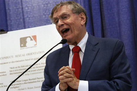 Major League Baseball Commissioner Bud Selig talks about MLB's policies against harassment and discrimination based on sexual orientation du