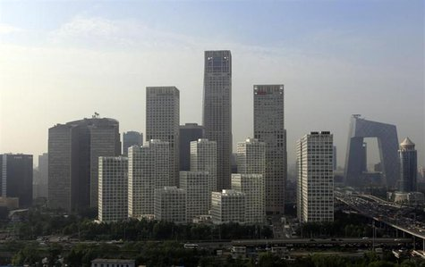 Buildings are seen in Beijing's central business district, July 11, 2013. REUTERS/Jason Lee