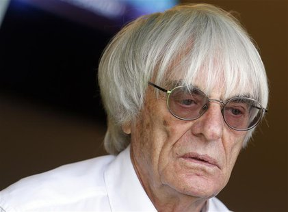 Formula One supremo Bernie Ecclestone is seen after the qualifying session of the Monaco F1 Grand Prix May 25, 2013. REUTERS/Stefano Relland