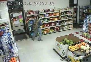 Surveillance image taken from a July 14, 2013 break-in at the Piggly Wiggly grocery store, 450 N. Margaret St., Markesan. (Photo by Markesan PD).