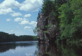 St. Croix River at Interstate Park, St. Croix Falls WI and Taylors Falls MN.