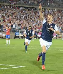 Brek Shea after hitting the game winning goal in the 82nd minute against Costa Rica.