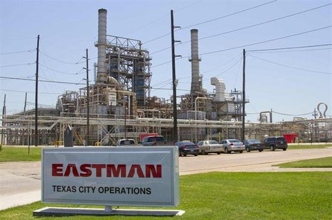An Eastman Chemical company sign stands outside the recently renovated chemical plant in Texas City, Texas May 18, 2012. REUTERS/Richard Car