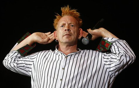 Johnny Rotten performs with the Sex Pistols during the Exit music festival in Novi Sad, northerm Serbia, July 14, 2008. REUTERS/Marko Djuric