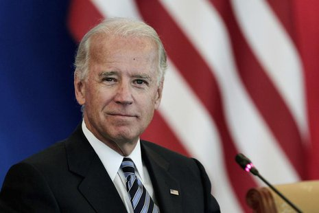 U.S. Vice President Joe Biden attends a discussion with U.S. and Chinese business leaders at Beijing Hotel in Beijing August 19, 2011. REUTE