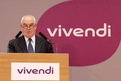 Jean-Francois Dubos, Chairman of the Management Board and CEO of Vivendi, speaks during the company's 2012 annual results presentation in Pa
