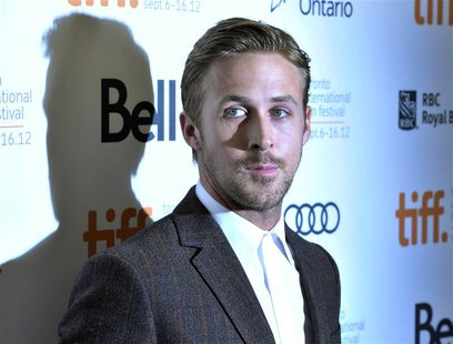 "Actor Ryan Gosling poses at the gala presentation for the film ""The Place Beyond The Pines"" at the 37th Toronto International Film Festival"