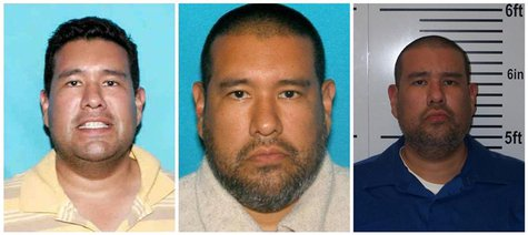 A combination picture shows photos of suspect Anthony Joseph Garcia taken in (L-R) 2006, 2012 and after his arrest in Illinois on July 15, 2