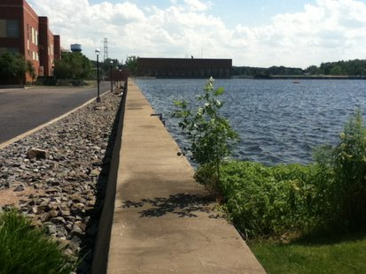 Stevens Point Seawall, maintained by Consolidated Water Power Company