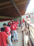 2013 Coldwater Redbirds Mickey Mantle North Central Regional dugout
