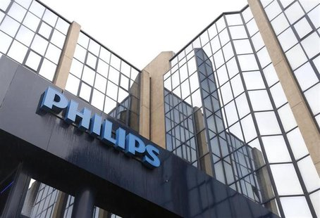 The logo of Philips is seen at the company's entrance in Brussels September 11, 2012.REUTERS/Francois Lenoir