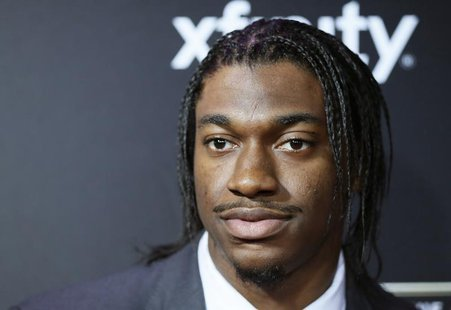Washington Redskins quarterback Robert Griffin III arrives at the 2nd Annual NFL Honors in New Orleans, Louisiana, February 2, 2013. REUTERS