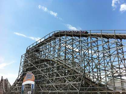 Zippin Pippin roller coaster seen on Monday July 22, 2013. (Photo by: Terry Lee).