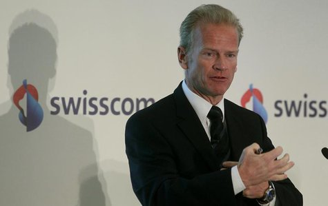 Carsten Schloter, CEO of Swiss phone company Swisscom AG addresses the company's annual news conference in Zurich February 17, 2011. REUTERS