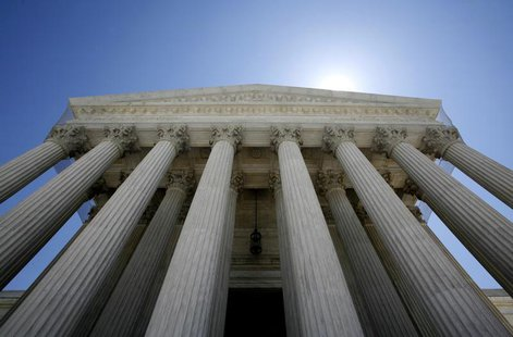 The U.S. Supreme Court building seen in Washington in this May 20, 2009 file photo. REUTERS/Molly Riley