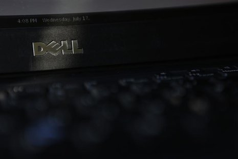 The logo of a Dell laptop computer is pictured in Pasadena, California July 17, 2013. REUTERS/Mario Anzuoni