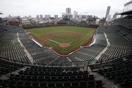 An general view of Wrigley Field in Chicago, Illinois, April 15, 2013. REUTERS/Jim Young