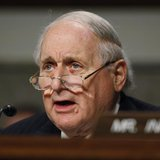 Committee Chairman Carl Levin (D-MI) is seen during a Senate Armed Services Committee hearing on the nomination of former Sen. Chuck Hagel (