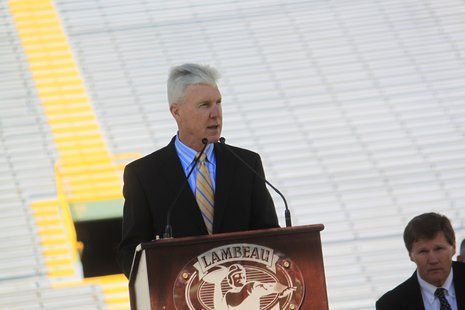 Ted Thompson addressed the shareholders