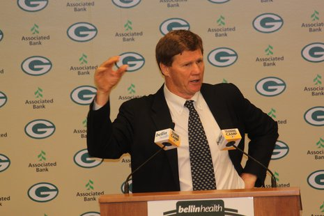 Mark Murphy addressed the media after the Shareholders Meeting
