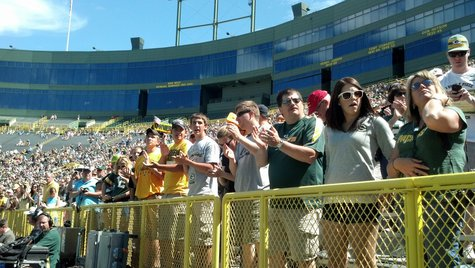 Green Bay Packers fans attend annual Shareholder's Meeting at Lambeau Field on July 24, 2013. (Copyright Midwest Communications, Inc.)